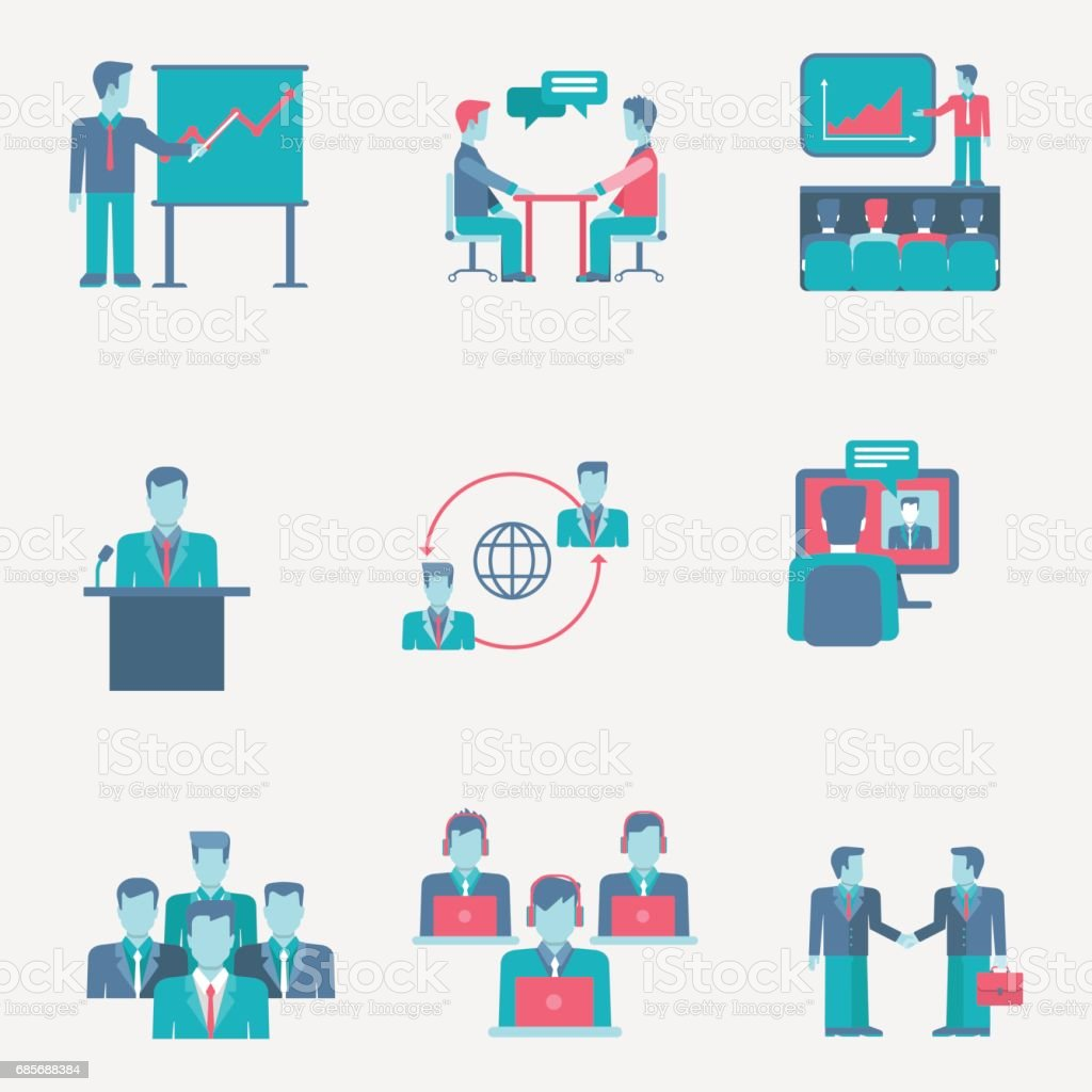 Flat icons set business people team group support presentation staff partnership web click infographics style vector illustration concept collection. royalty-free flat icons set business people team group support presentation staff partnership web click infographics style vector illustration concept collection stock vector art & more images of abstract