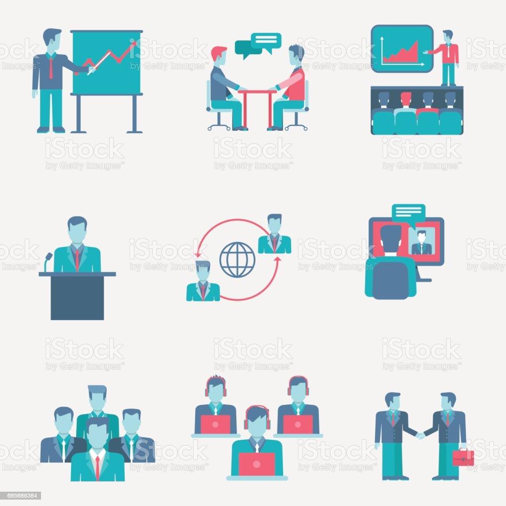 フラット アイコンはビジネスの方々 にチーム グループ サポート プレゼンテーション スタッフ提携 web クリック インフォ グラフィック スタイル ベクトル図概念コレクションを設定します。 ロイヤリティフリーフラット アイコンはビジネスの方々 にチーム グループ サポート プレゼンテーション スタッフ提携 web クリック インフォ グラフィック スタイル ベクトル図概念コレクションを設定します - アイコンのベクターアート素材や画像を多数ご用意