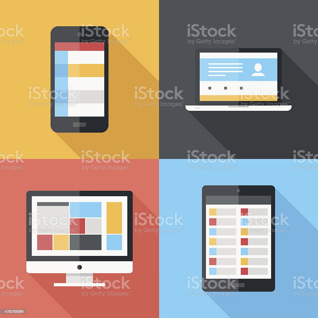 Flat icons royalty-free flat icons stock vector art & more images of communication