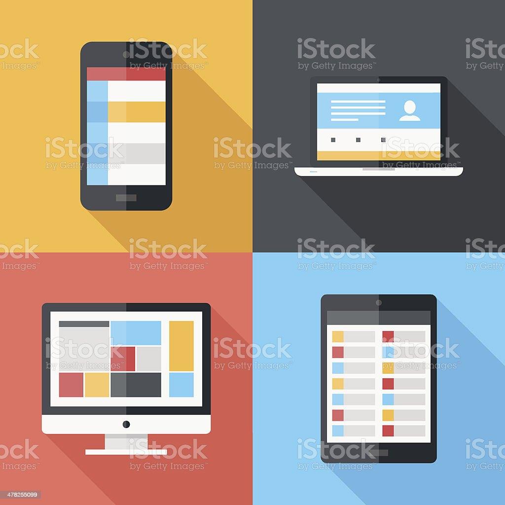 Icônes de plat - Illustration vectorielle