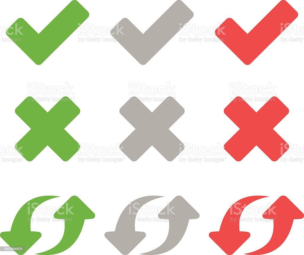 Flat Icons - VECTOR vector art illustration