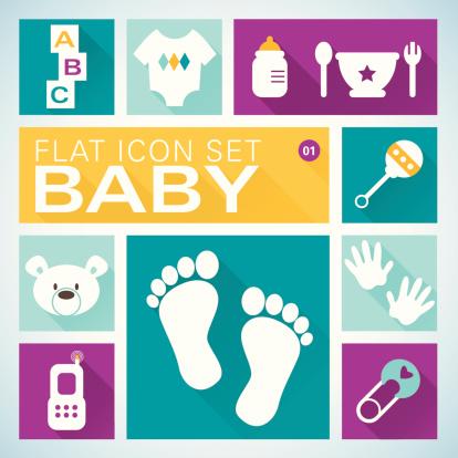 Flat icons1 Baby Boy