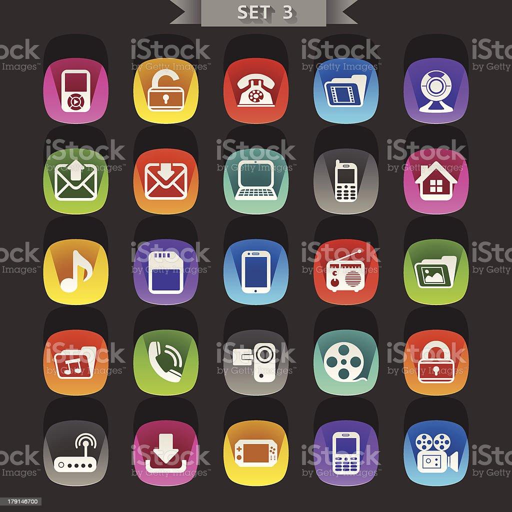 Flat icons-set 3 royalty-free stock vector art
