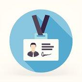 Flat & Long Shadow ID Card Icon