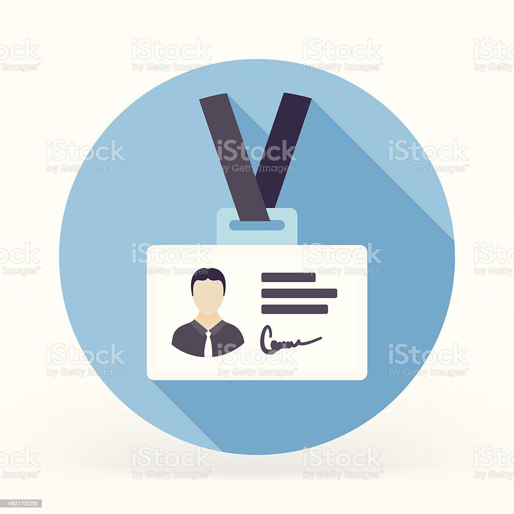 Flat ID Card Icon vector art illustration