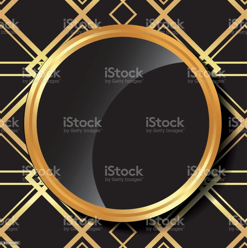Flat illustration about gatsby background design vector art illustration