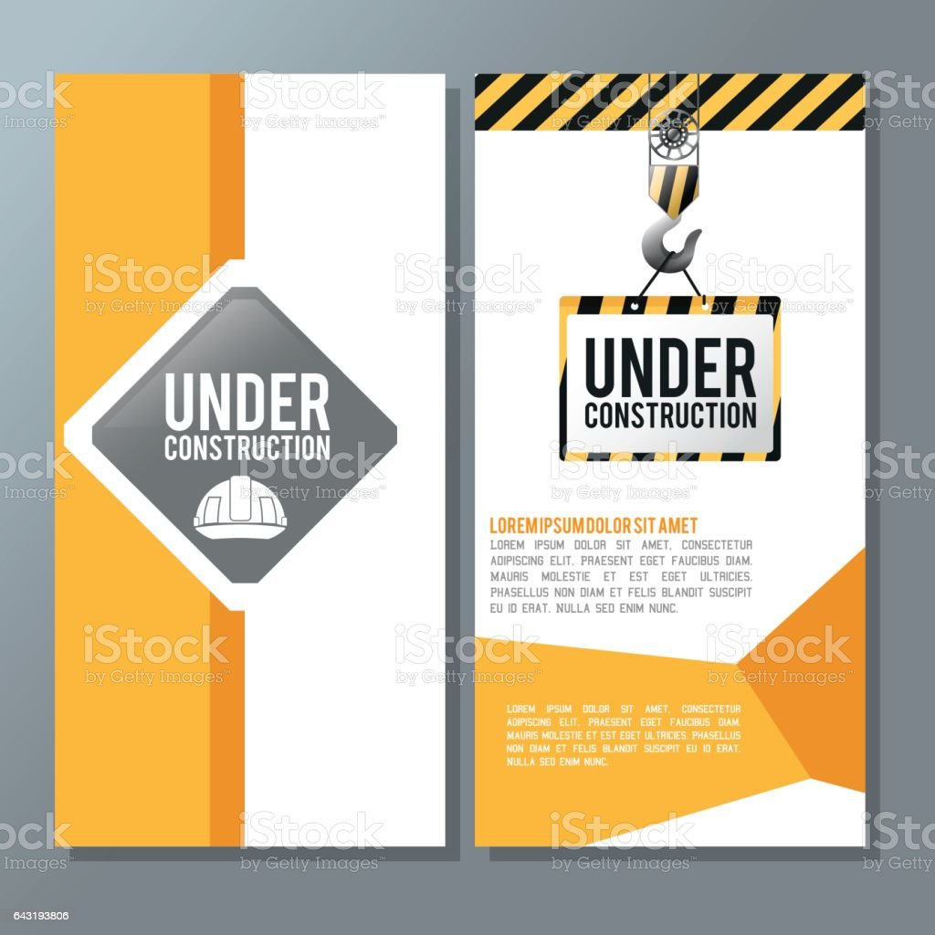 Flat illustration about under construction design. road sign vector art illustration