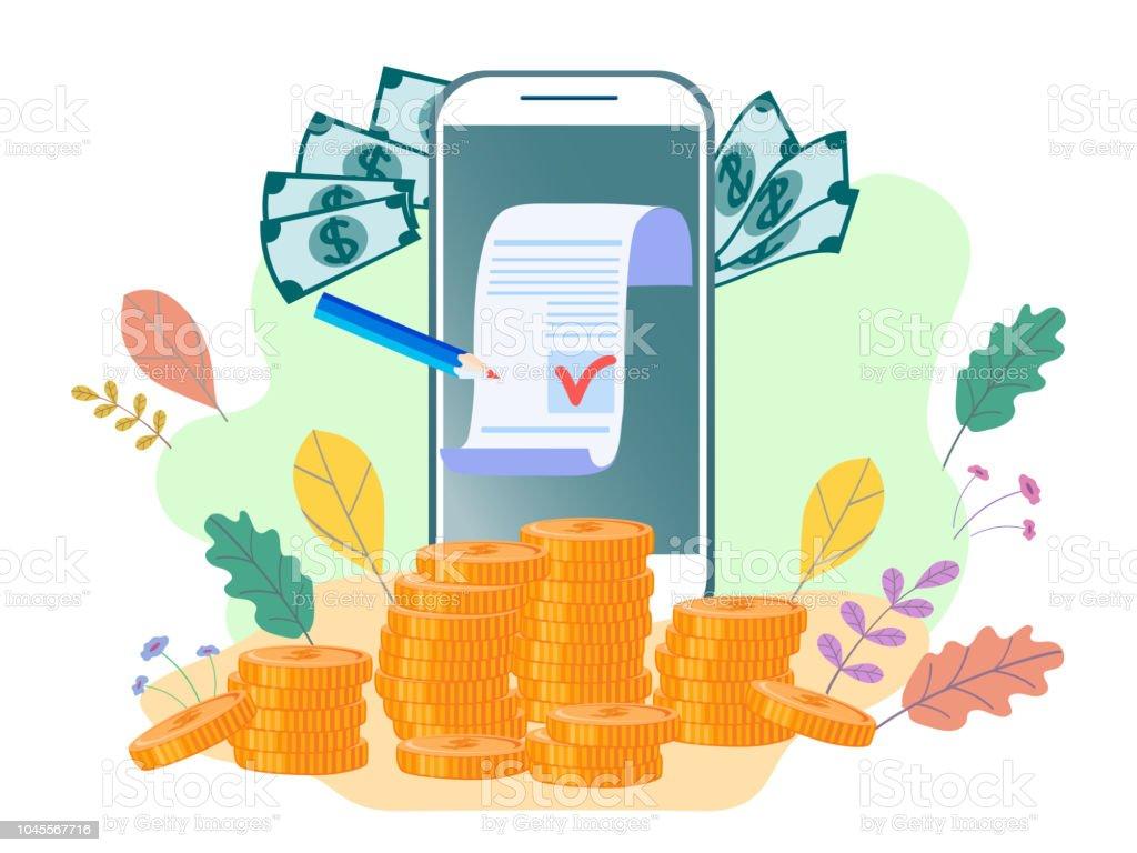 Flat Illustration Concept For Web Page Banner Presentation