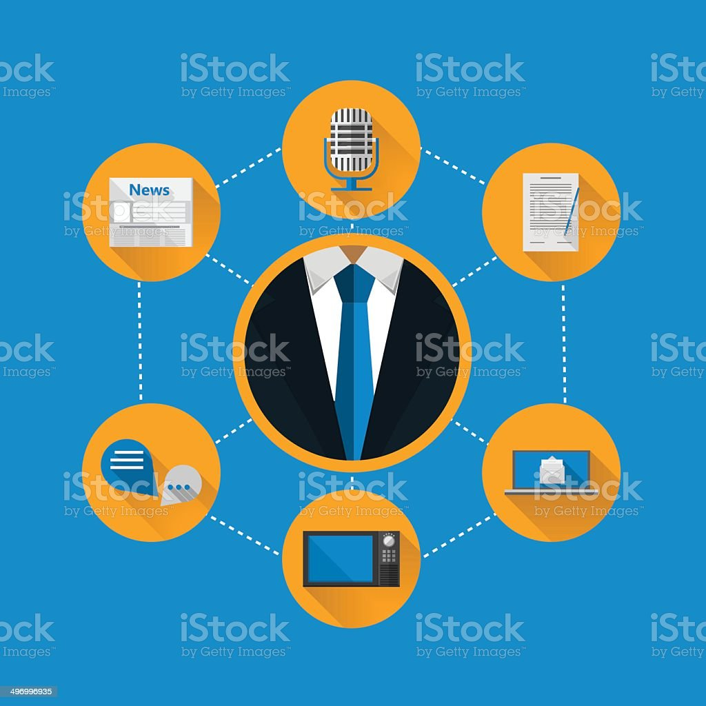 Flat illustration for news royalty-free flat illustration for news stock vector art & more images of blue
