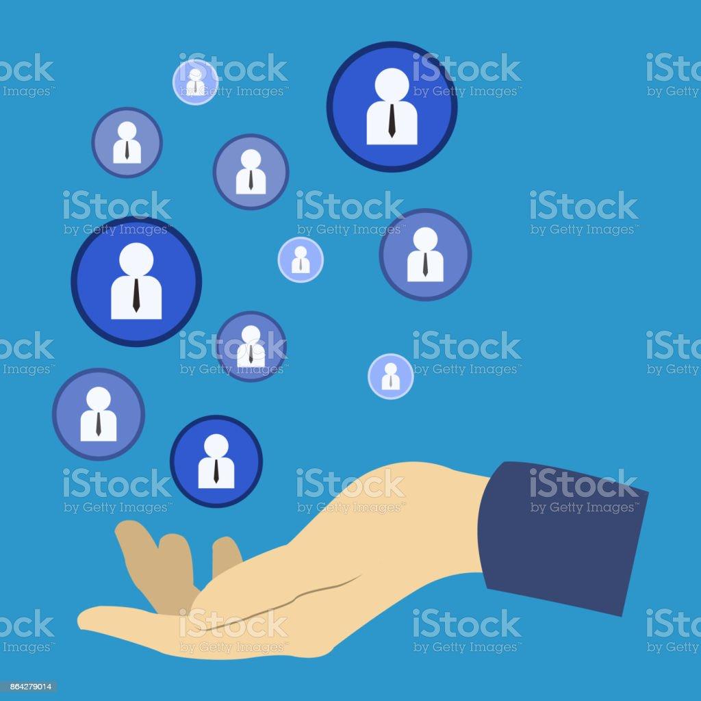 Flat illustration the concept of recruitment personal royalty-free flat illustration the concept of recruitment personal stock vector art & more images of art
