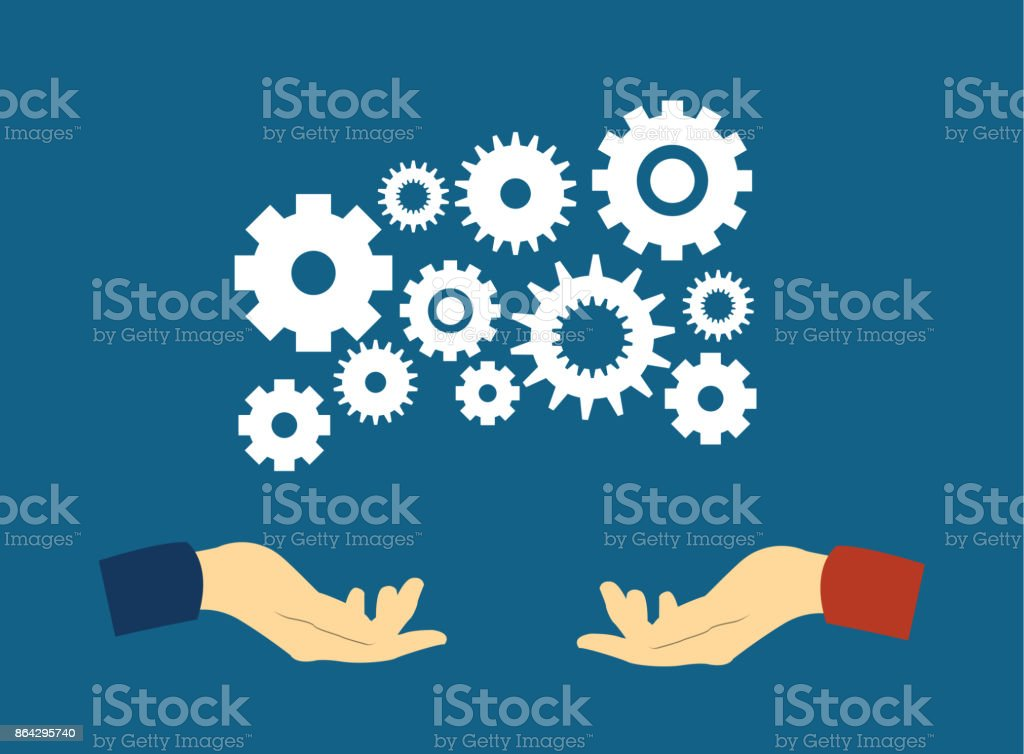 Flat illustration vector concept teamwork on the system and support royalty-free flat illustration vector concept teamwork on the system and support stock vector art & more images of abstract
