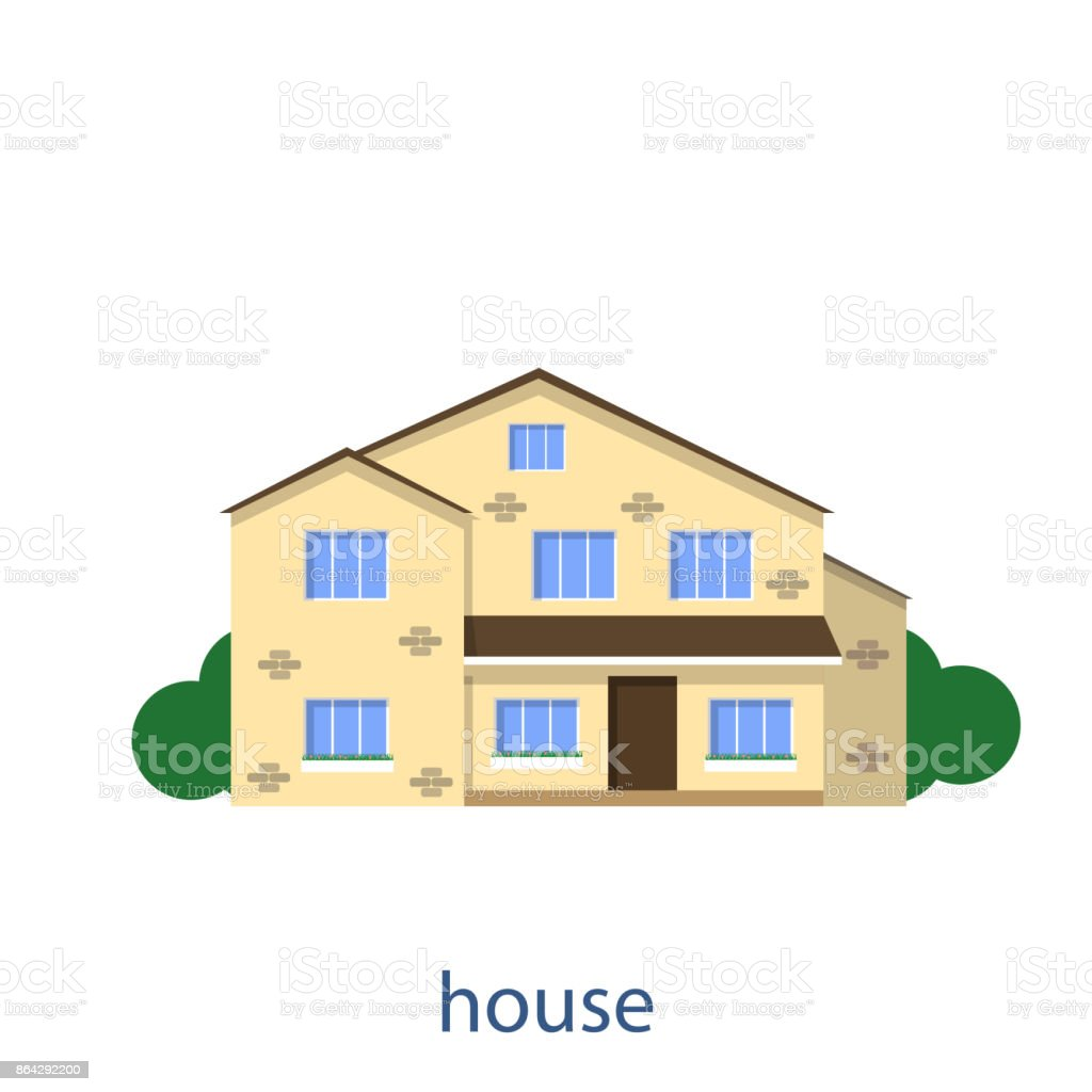 Flat illustration vector design house front view royalty-free flat illustration vector design house front view stock vector art & more images of abstract