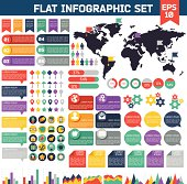 Flat infographic elements set.
