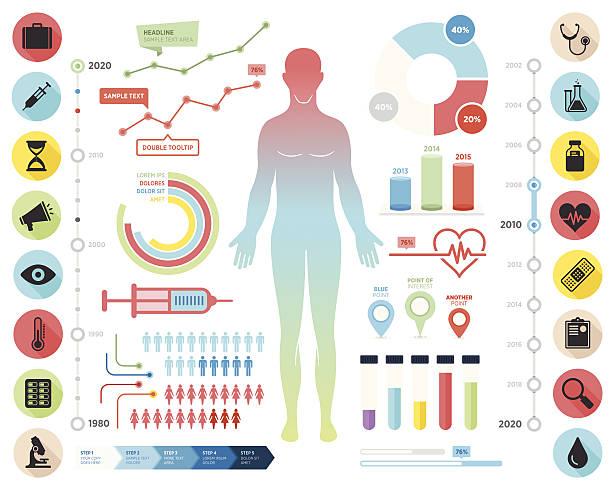 Flat Infographic Set vector art illustration