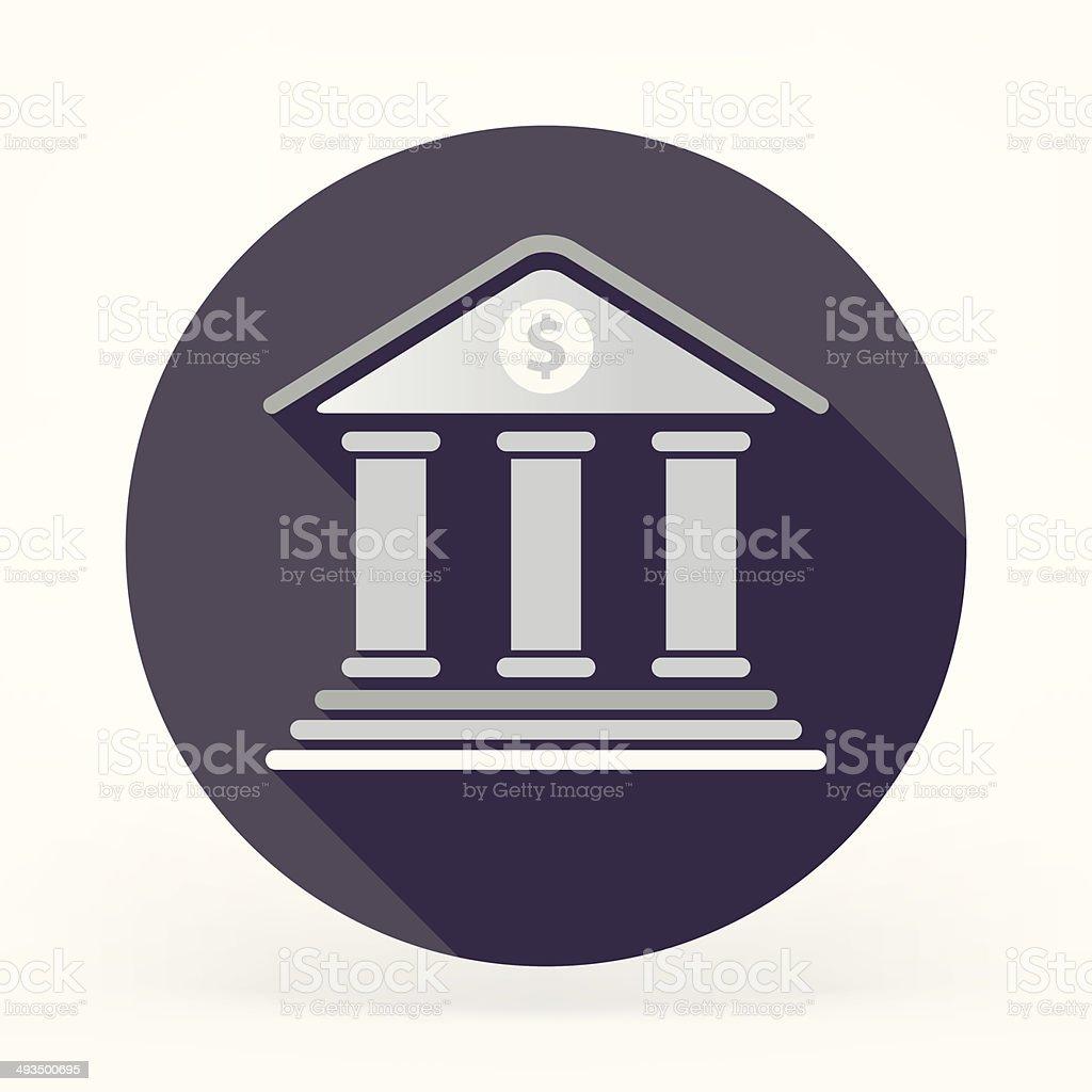 Flat Institute Icon vector art illustration