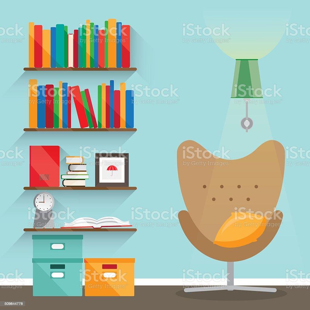 Flat interior illustrations vector art illustration