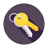 Flat & Long Shadow Keys Icon