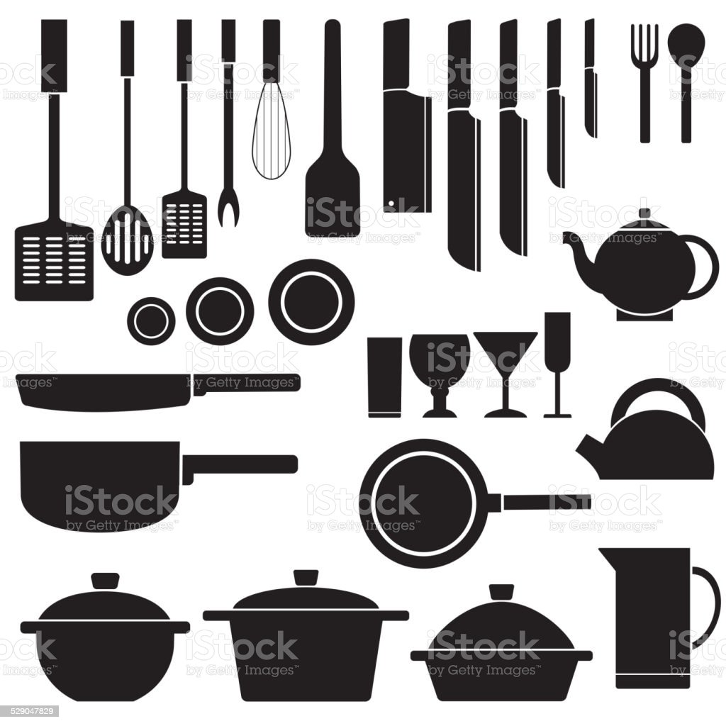 flat kitchen table for cooking in house design vector art illustration