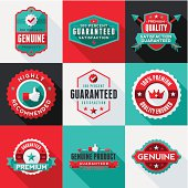 A collection of modern, flat design-styled labels. EPS 10 file, no transparencies, layered & grouped,
