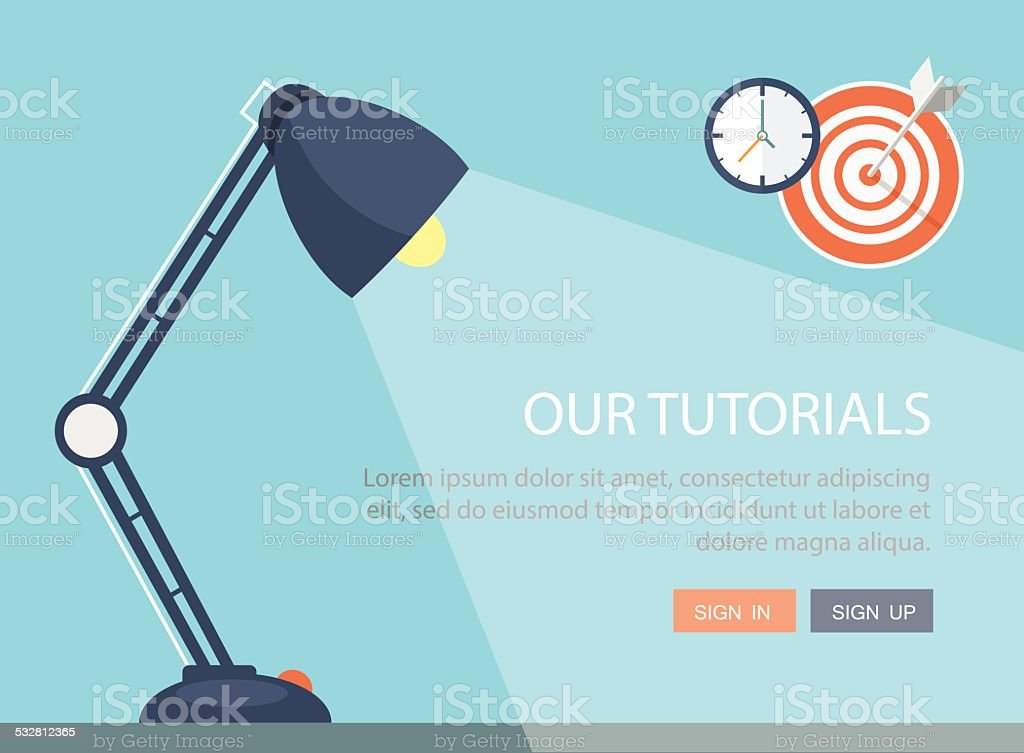 Flat lamp illustration. vector art illustration