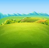 flat land illustration