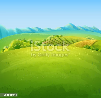 flat land illustration