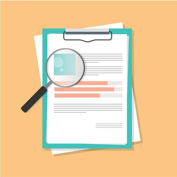flat lay resume paper job hiring vector design top view flat lay resume paper job hiring vector design top view application form stock illustrations