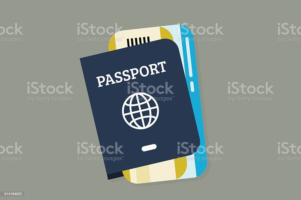 Flat Lay Travel vector art illustration