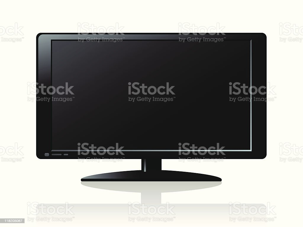 flat LCD screen royalty-free stock vector art