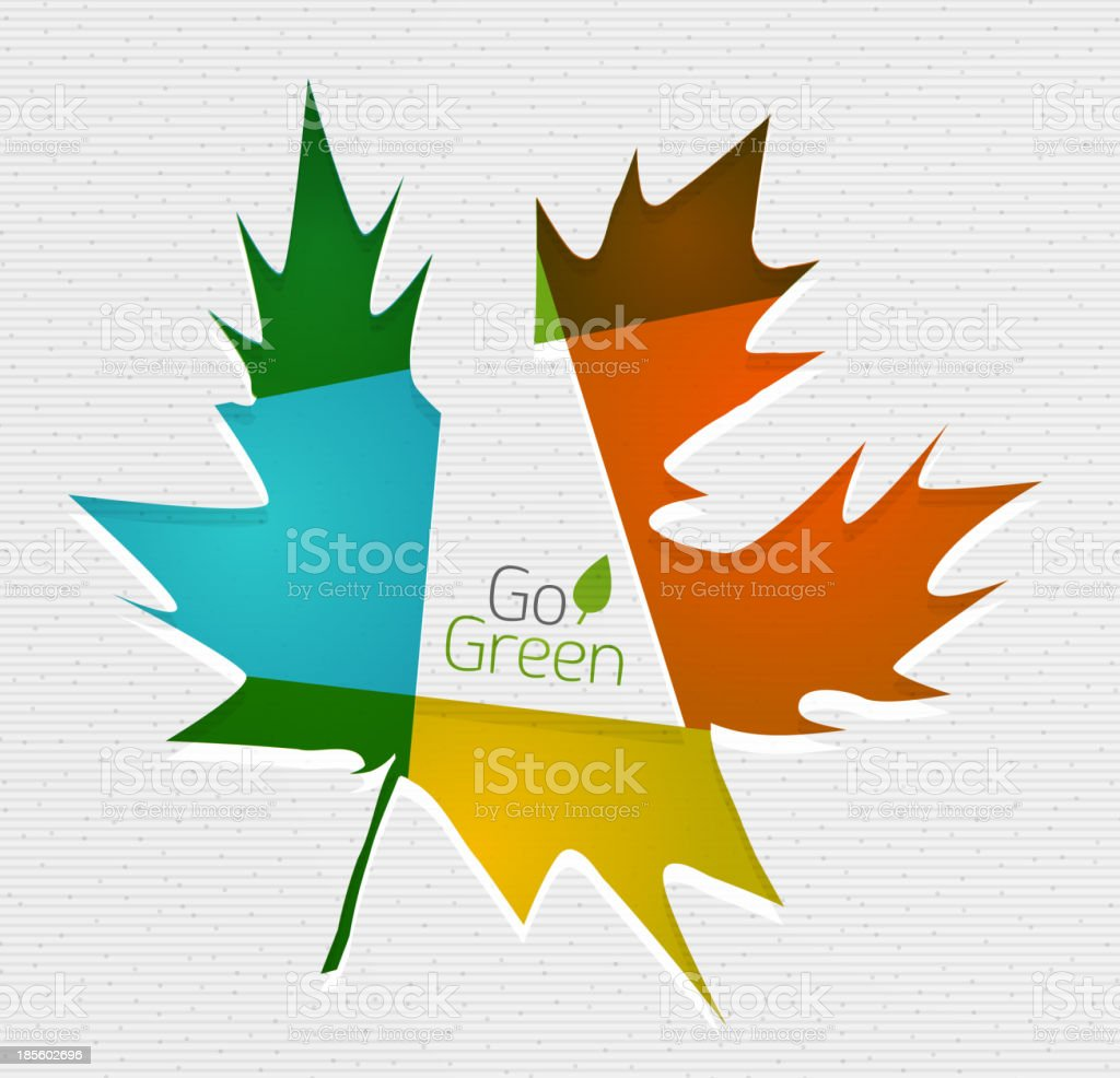 Flat leaf paper template royalty-free stock vector art