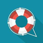 istock Flat lifebuoy icon 480116082