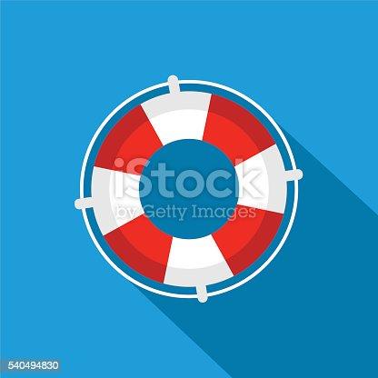 istock Flat Lifebuoy icon 540494830