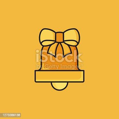 istock Flat Line Design Style Christmas Decoration Icon, Outline Symbol Vector Illustration 1273386138