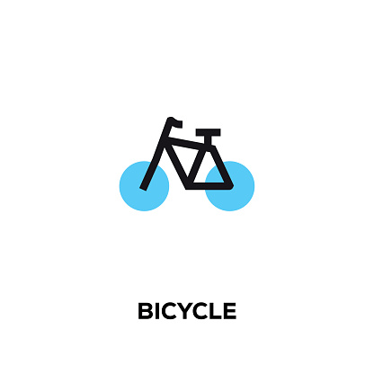 Flat line design style modern vector Bicycle icon