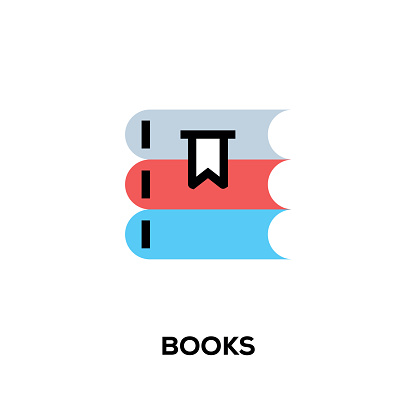 Flat line design style modern vector Books icon