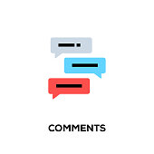 Flat line design style modern vector Comments icon