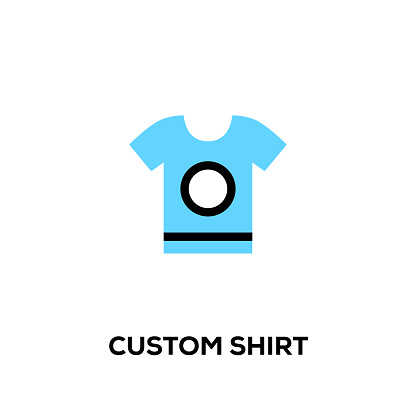 Flat line design style modern vector Custom Shirt icon
