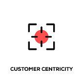 Flat line design style modern vector Customer Centricity icon