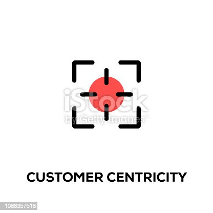 Flat line design style modern vector Customer Centricity icon