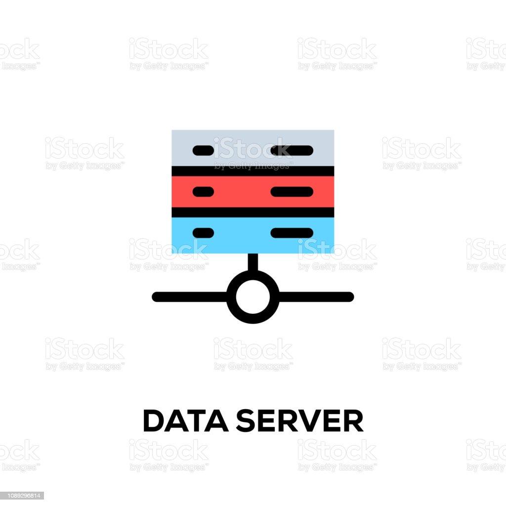 Flat Line Design Style Modern Vector Data Server Icon Stock