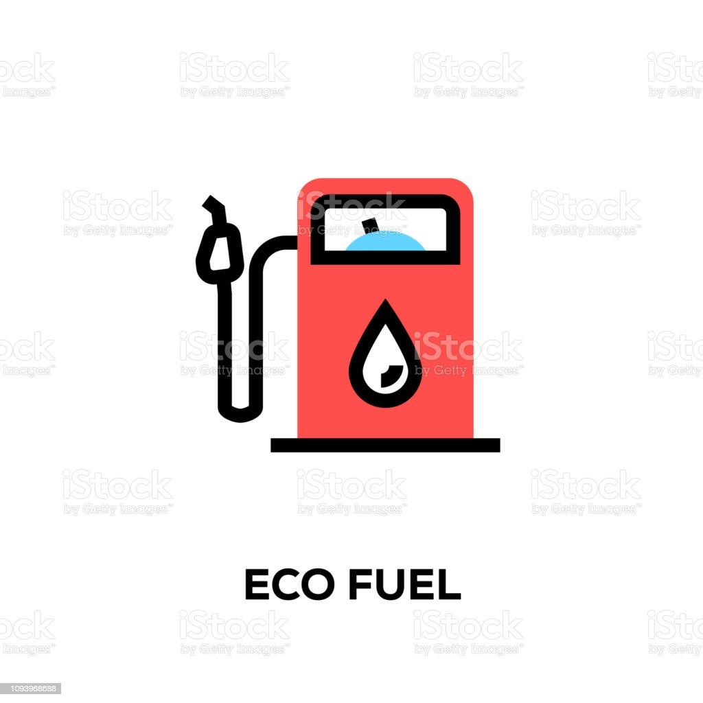 Flat line design style modern vector Eco Fuel icon Flat line design style modern vector Eco Fuel icon Alternative Lifestyle stock vector