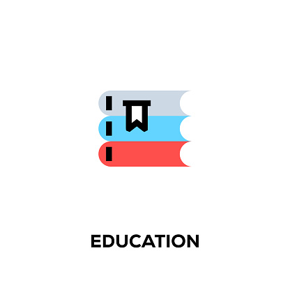 Flat line design style modern vector Education icon