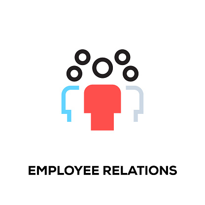 Flat line design style modern vector Employee Relations icon