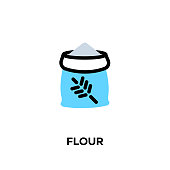 Flat line design style modern vector Flour icon