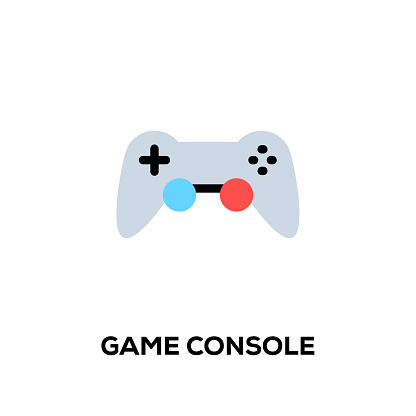 Flat line design style modern vector Game Console icon