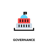 Flat line design style modern vector Governance icon