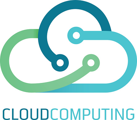 Flat line design web banners for cloud computing services