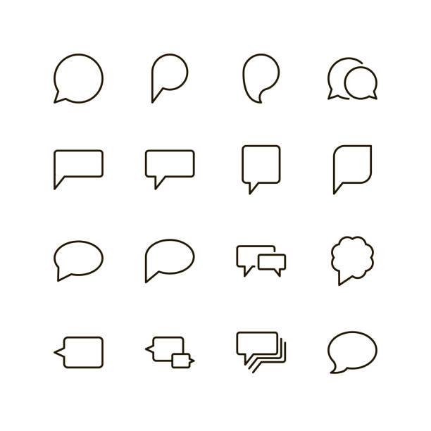 flache liniensymbol - reden stock-grafiken, -clipart, -cartoons und -symbole