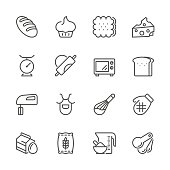 Icon Set of baking on white background , Vector line design icon The latest line design icon ,Match the latest trends in design and creativity ,It will help all of your graphic design & Mobile device & interface Design