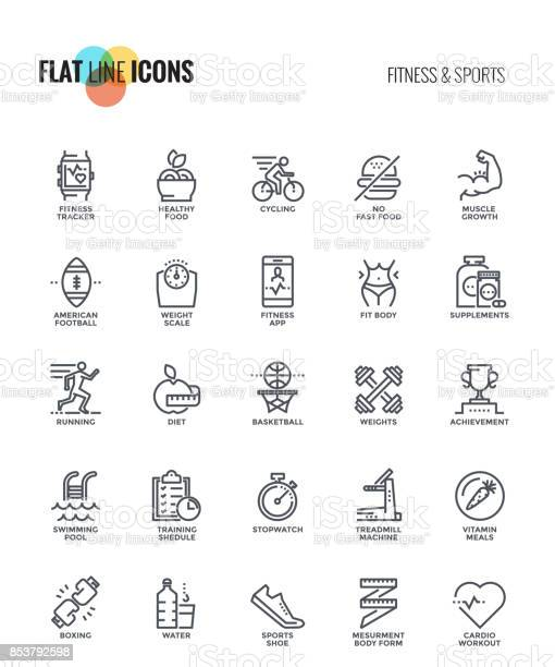Flat line icons designfitness and sports vector id853792598?b=1&k=6&m=853792598&s=612x612&h=n2g tcfefx5n8eib5gbju1oekcuyvi17fiuk6gnulzw=
